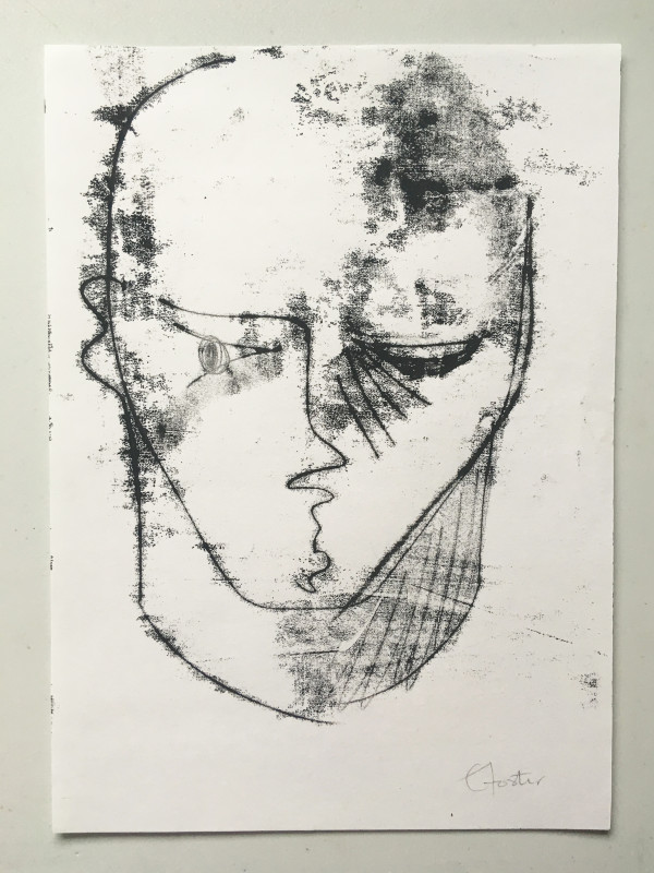 Untitled (head series 3) by Liz Foster