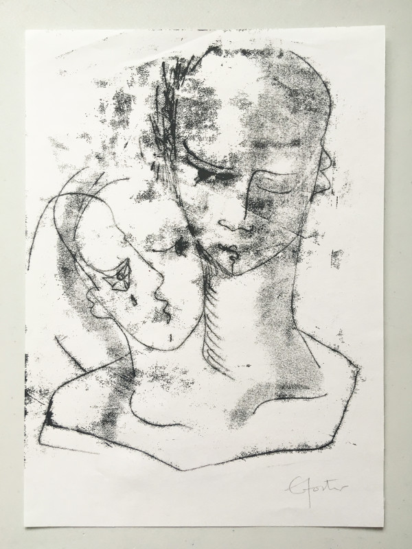 Untitled (head series 4) by Liz Foster