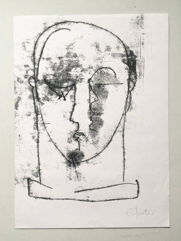 Untitled (head series 5) by Liz Foster
