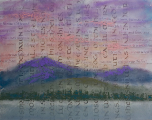 Woven Letters with Painting by Brenna O'Toole