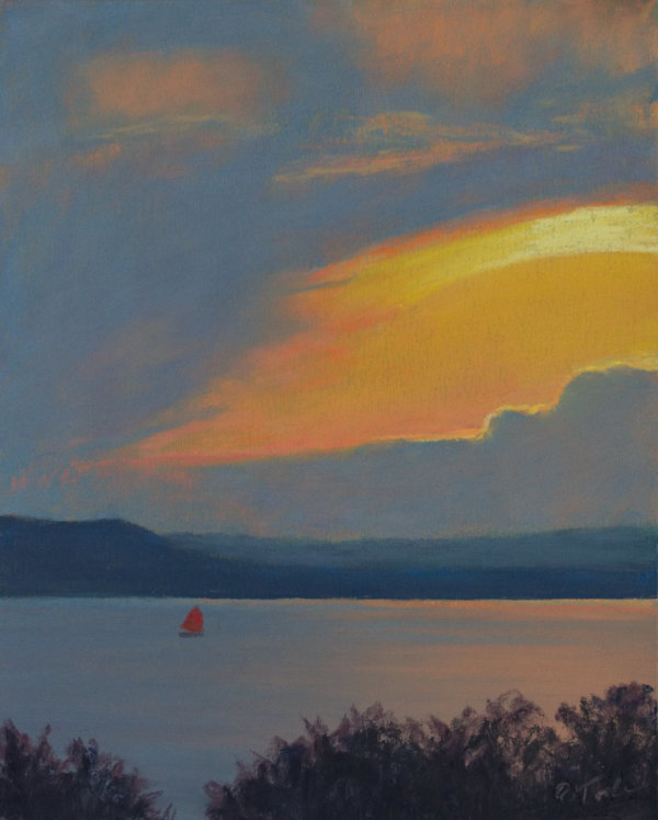 Red Sails at Sunset by Brenna O'Toole