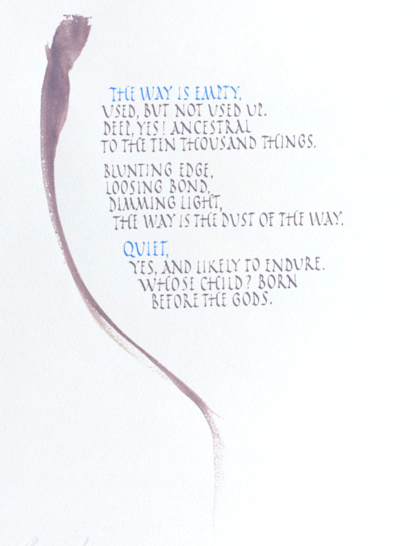 Tao Te Ching - Chapter 4, Version 1 by Brenna O'Toole