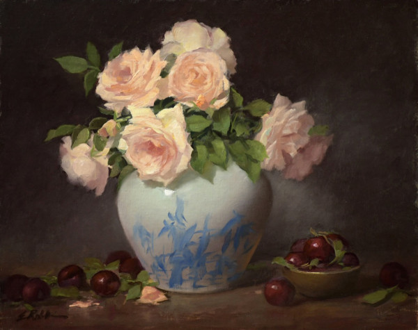 Plums and Roses by Elizabeth Robbins