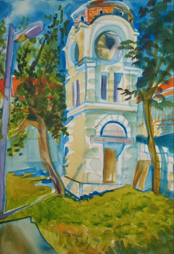 The Karpino Bell Tower by Gallina Todorova