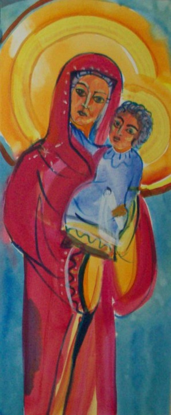 Holy Mother - from the Karpino Monastery Tripthych by Gallina Todorova