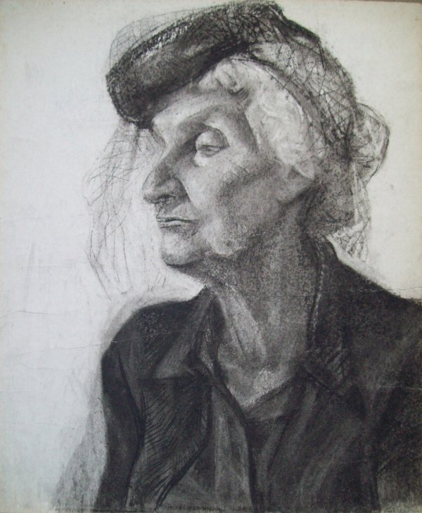 Old Lady with a veil by Gallina Todorova