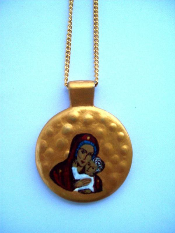 Pendant with the Holy Mother of God by Gallina Todorova