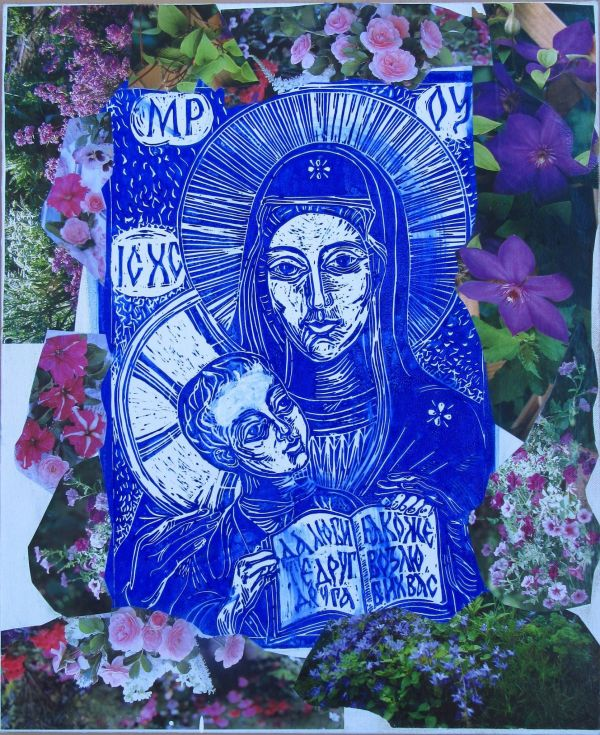 Looking at the Holy Mother of God 2 by Gallina Todorova
