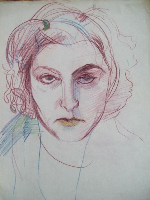 Selfportrait Sketch by Gallina Todorova
