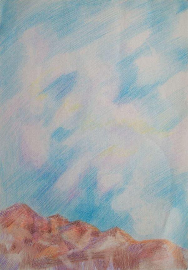Preliminary Sketch for Return 2003 by Gallina Todorova