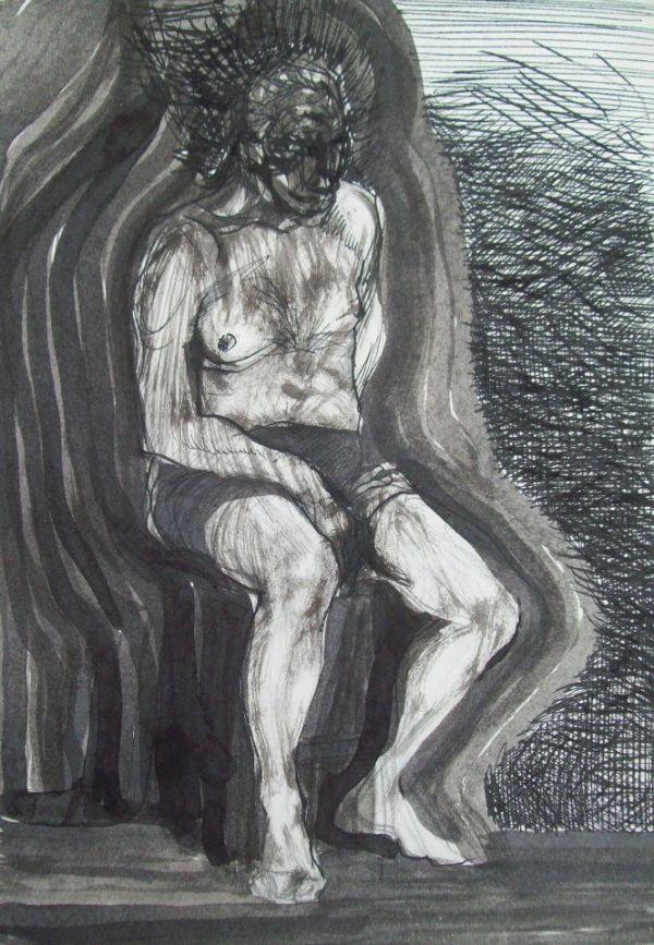 Elderly Nude by Gallina Todorova