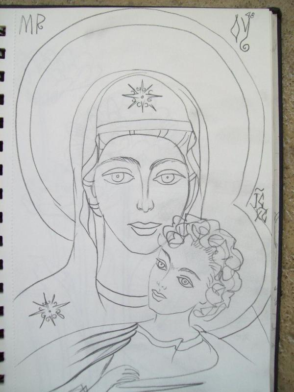 Holy Mother and child by Gallina Todorova