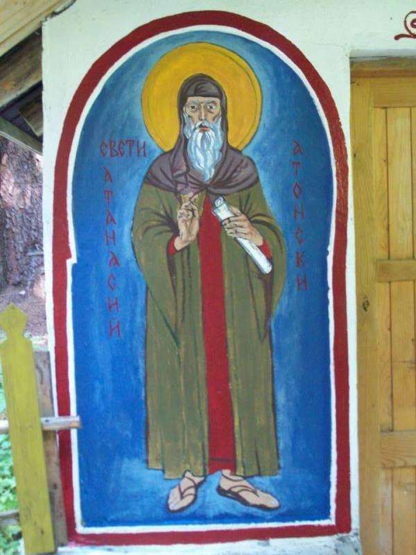 St Athanasios of Athos by Gallina Todorova
