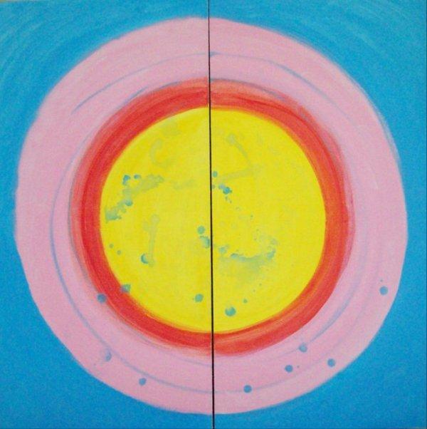 Balance 2 - after Keneth Noland - dipthych by Gallina Todorova