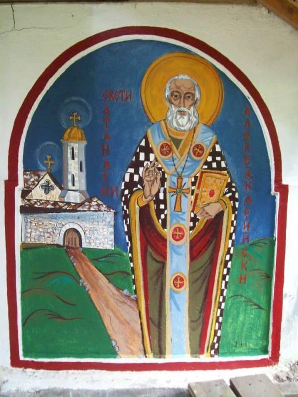 St Athanasios of Alexandria by Gallina Todorova
