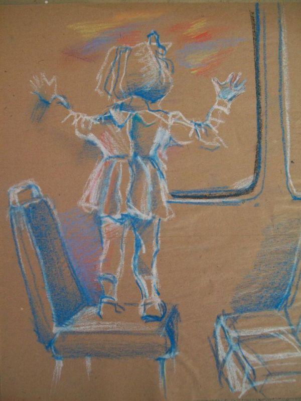 Sketch of a child by Gallina Todorova