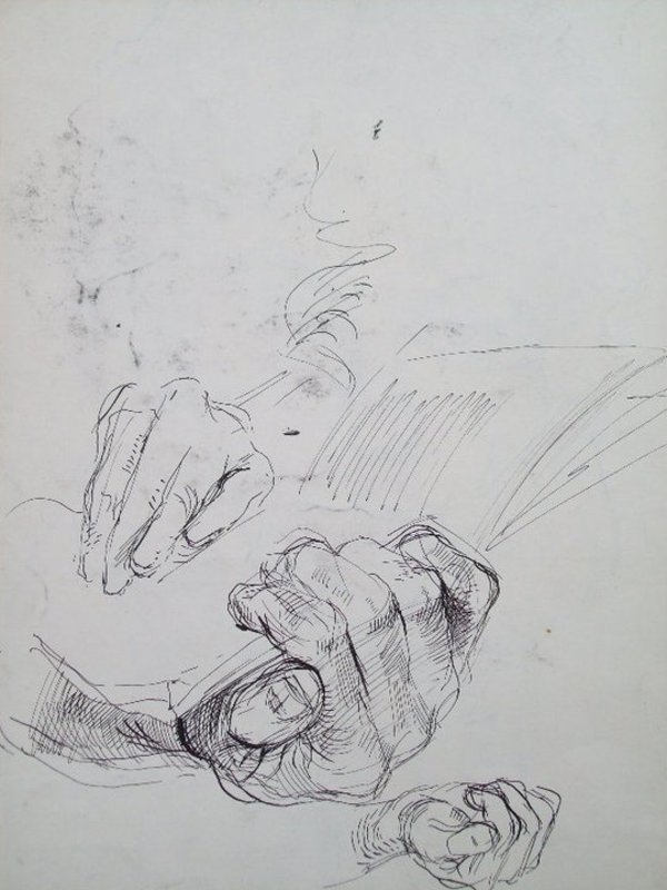 Hands, holding a book by Gallina Todorova
