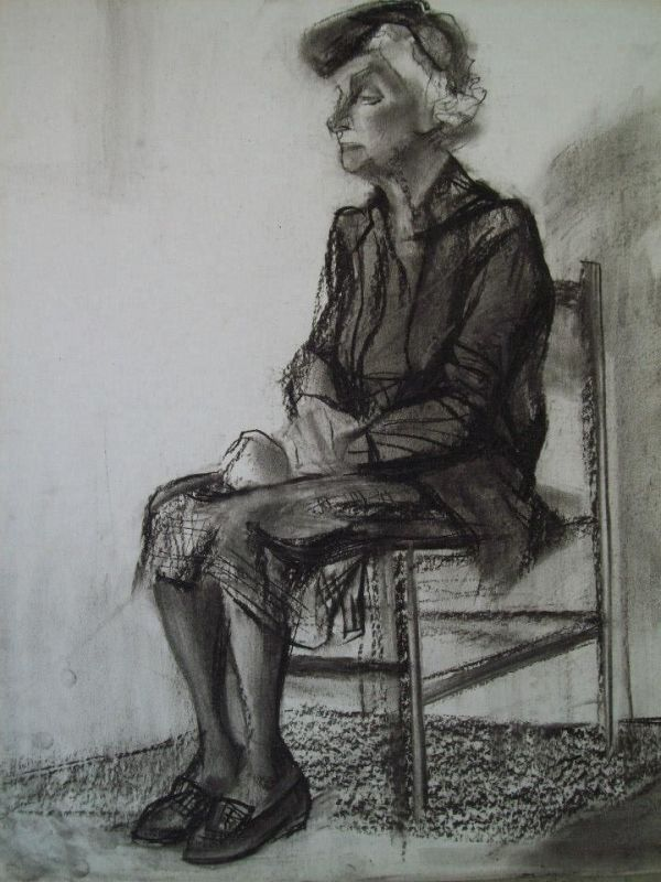 Model at the Art Academy in Sofia by Gallina Todorova