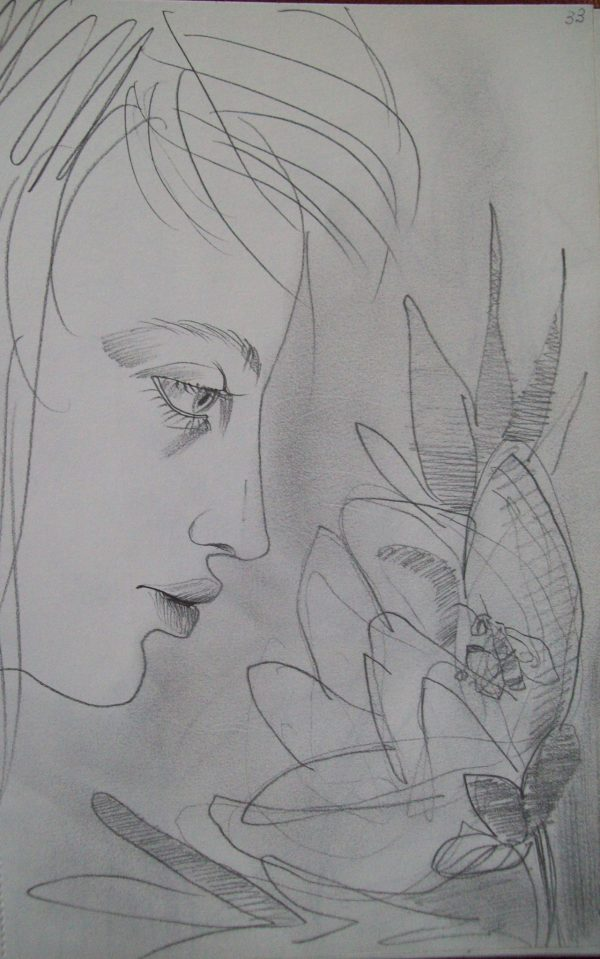 To smell a flower by Gallina Todorova