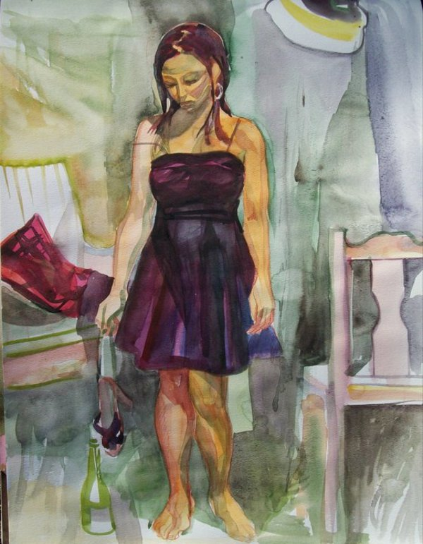 St Louis Artists Guild Model / After the party by Gallina Todorova