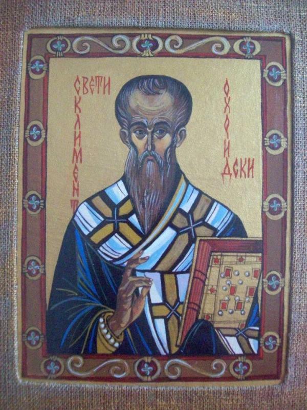 St Klyment of Ochrid by Gallina Todorova