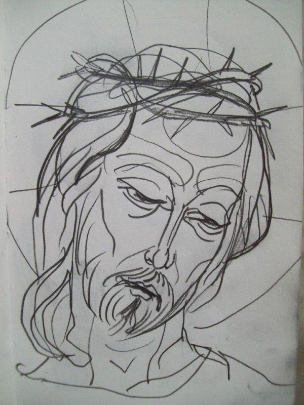 2 - Head of Jesus Christ on the cross by Gallina Todorova