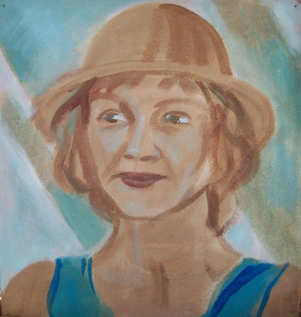 My mother with a hat - 70th Birthday by Gallina Todorova