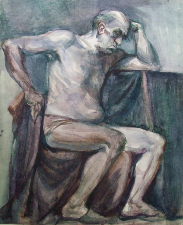 Nude Model at the Art Academy in Sofia by Gallina Todorova
