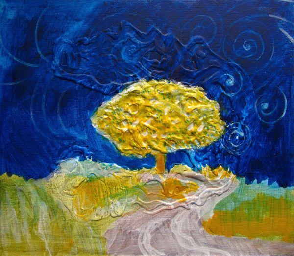 Night Tree by the Road by Gallina Todorova