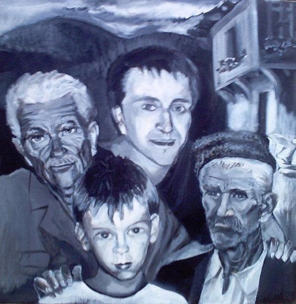 Bulgarian Family Men by Gallina Todorova