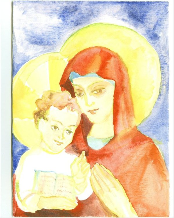 Holy Mother of God greeting card by Gallina Todorova