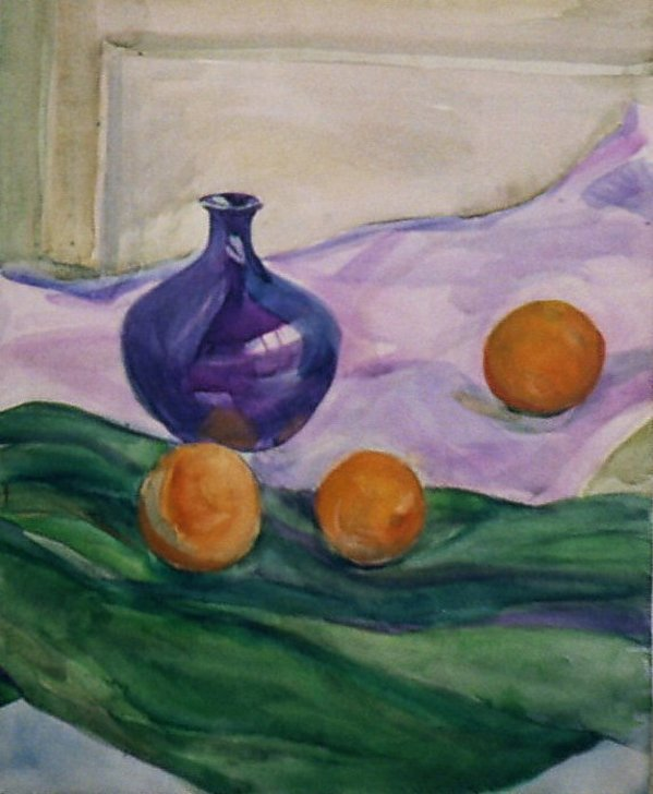 Still Life with oranges by Gallina Todorova