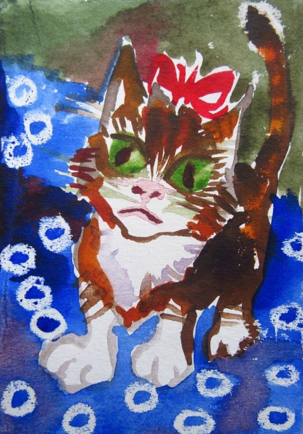 Kitten - Christmas 2019/ illustration by Gallina Todorova