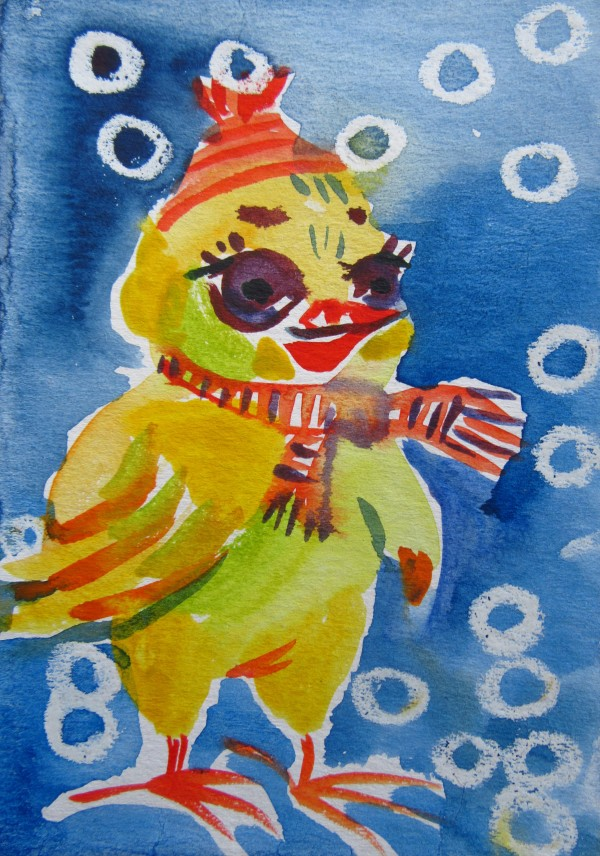 Chicken - Christmas 2019/ illustration by Gallina Todorova