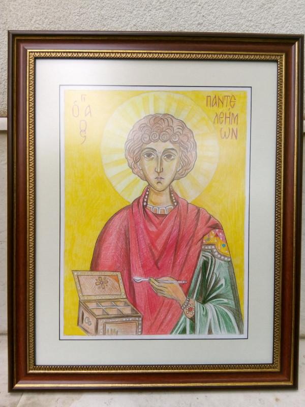 St Pantaleone/ Panteleymon by Gallina Todorova