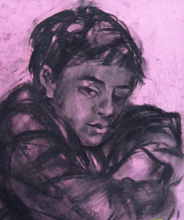 Boy, resting by Gallina Todorova