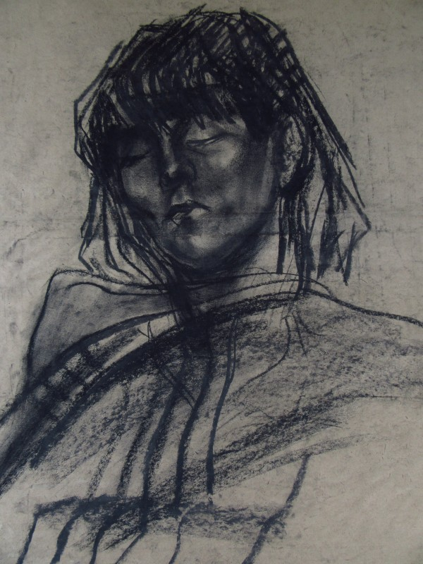 Sleeping young woman by Gallina Todorova