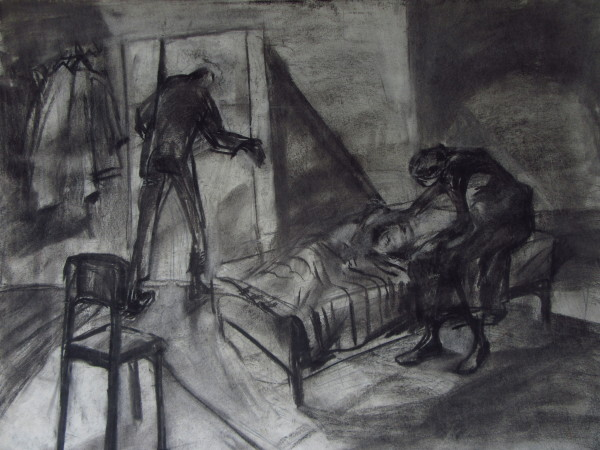 Family (with charcoal) by Gallina Todorova