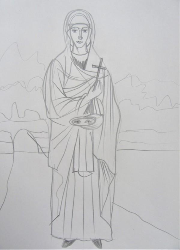 Agia Paraskevi of Rome by Gallina Todorova