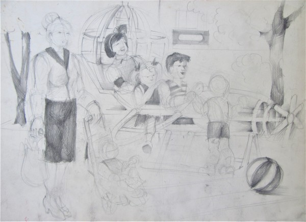 Figure Composition - Kindergarthen by Gallina Todorova