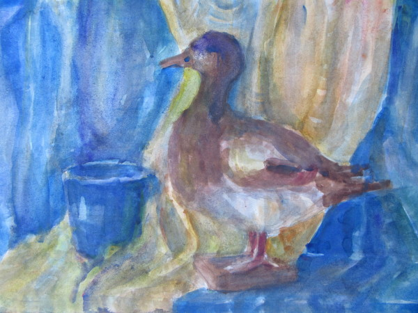 Still life with a duck by Gallina Todorova