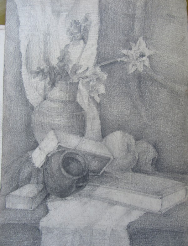 Still Life with a flower vase by Gallina Todorova