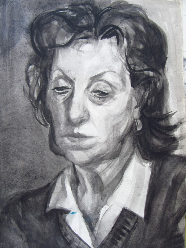 Portrait of a tired woman by Gallina Todorova