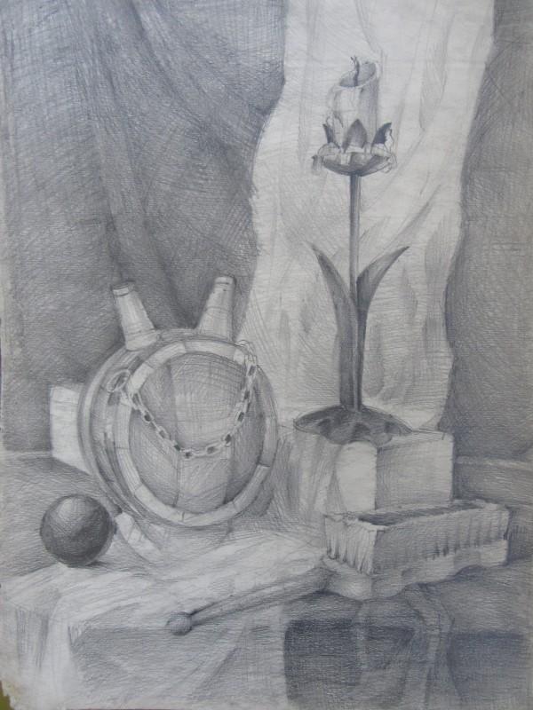 Still Life with a clothbrush by Gallina Todorova