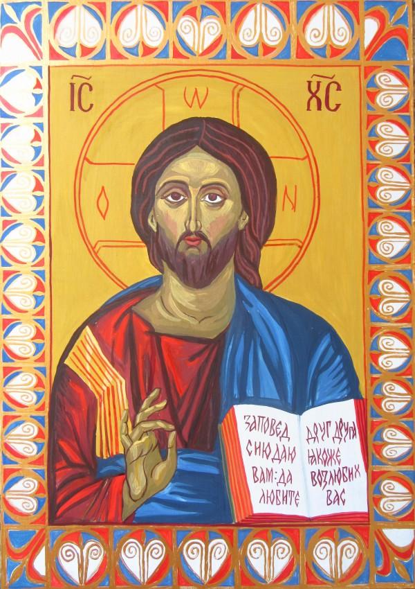 Jesus Christ Pantocrator by Iliana Koleva and Galina Todorova by Gallina Todorova