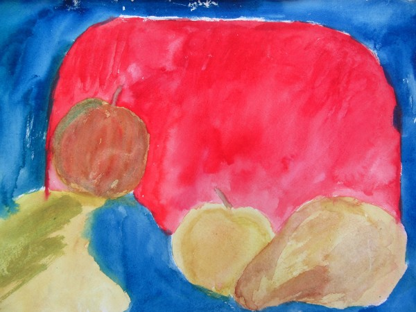 Still life with fruits and a tray by Gallina Todorova