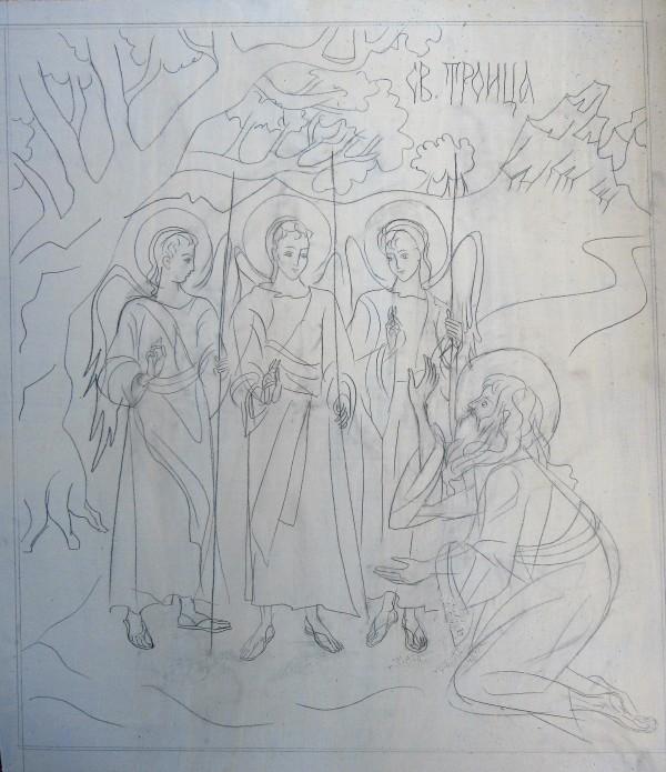 Holy Trinity / Angels at Mamre by Gallina Todorova