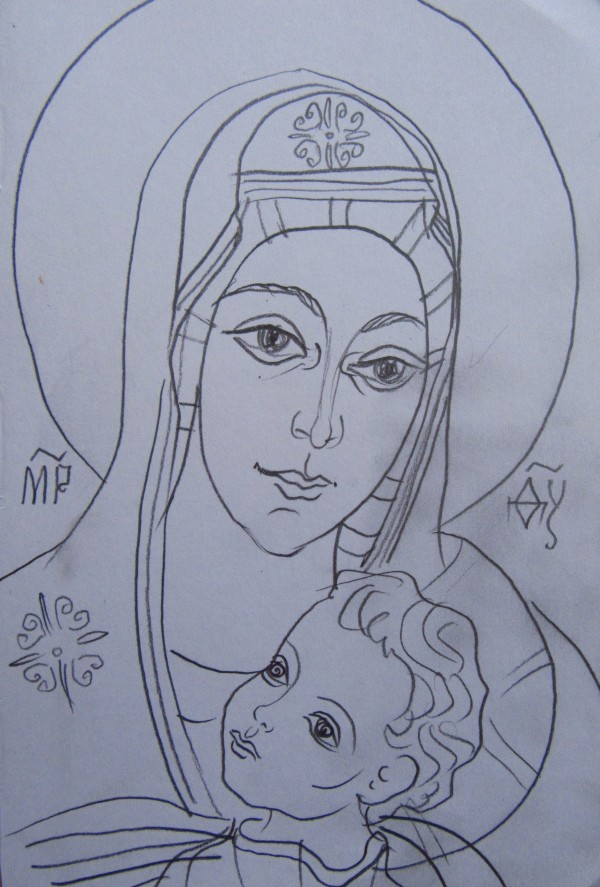 Holy Mother with Jesus child by Gallina Todorova