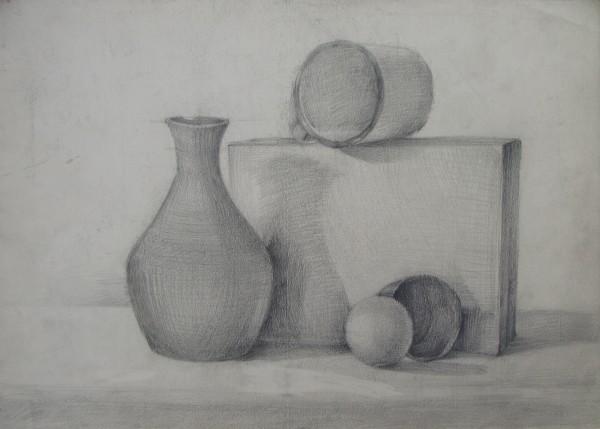 Still life before the exam - 1984 by Gallina Todorova