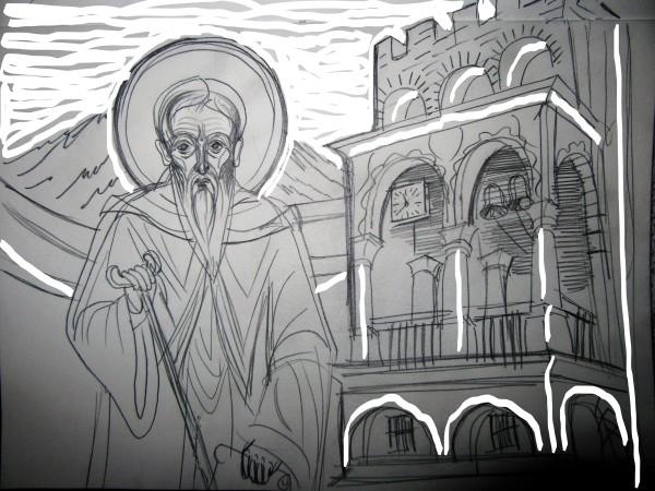 St John of Rilla -550 yrs at the Rilla Monastery by Gallina Todorova